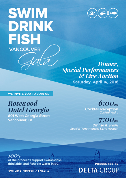Swim Drink Fish Invitation Image