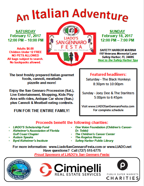 LIADO San Gennaro Festa 2018 Flyer
