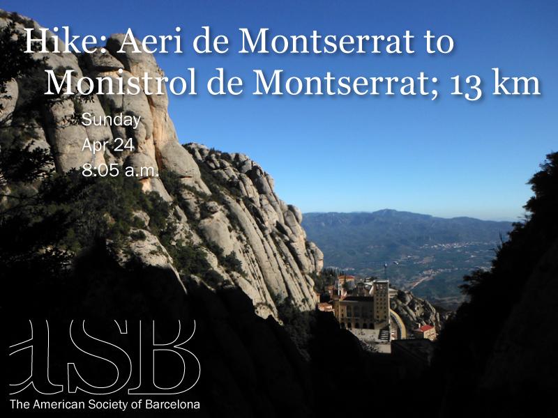 Aeri de Montserrat to Monistrol de Montserrat; 13 km