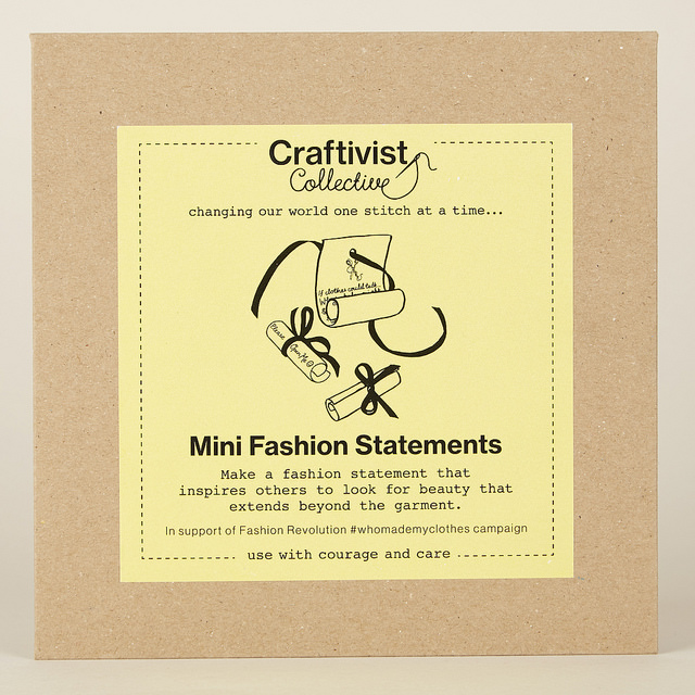 You recieve an ethical craftivism kit worth £12 at the workshop