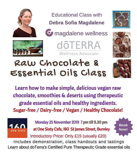 Raw Chocolate & Essential Oils Class