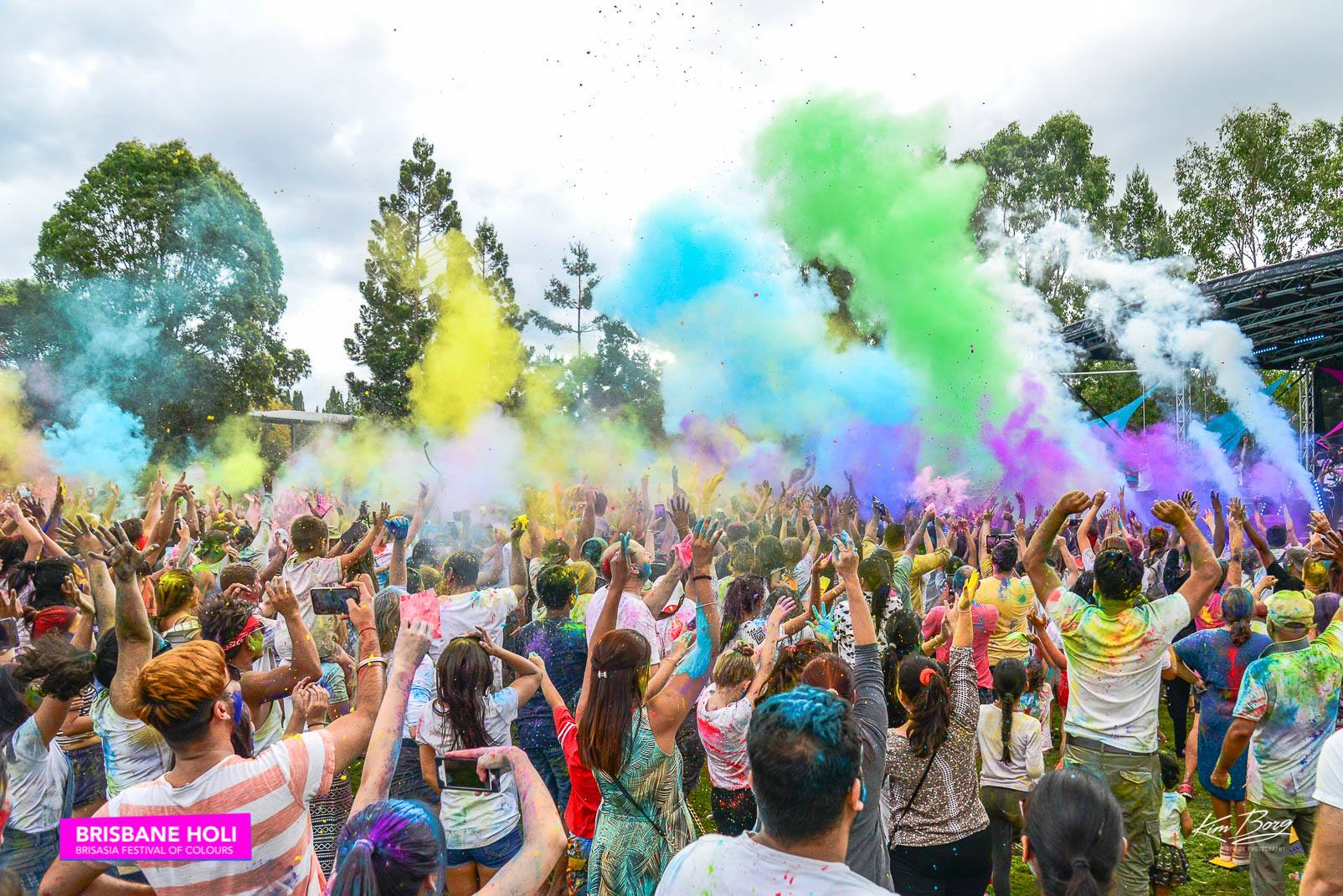 Crowd Enjoying Holi 2020
