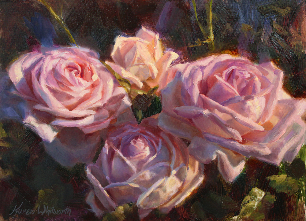 Nana's Roses by Karen Whitworth