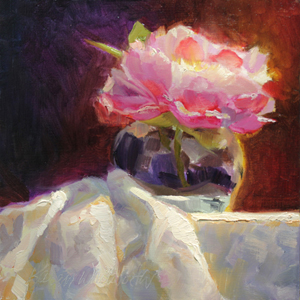 Peony Still Life by Karen Whitworth