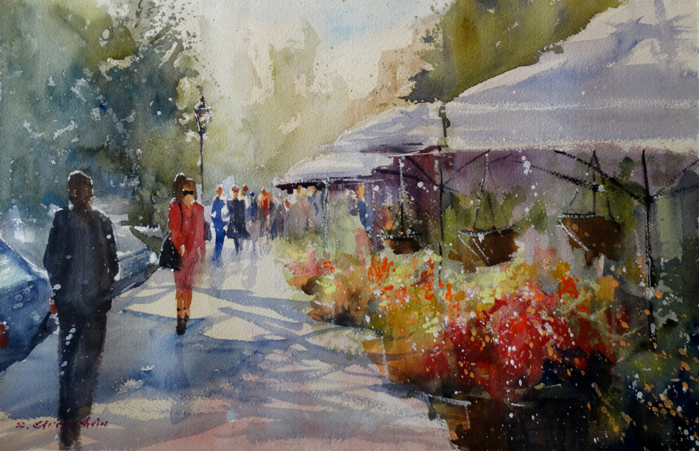 Watercolor Painting by Sandra Strohschein