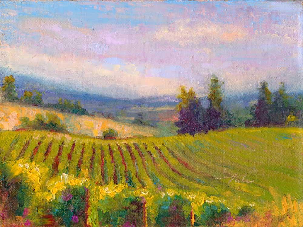 Landscape Painting by Talya Johnson