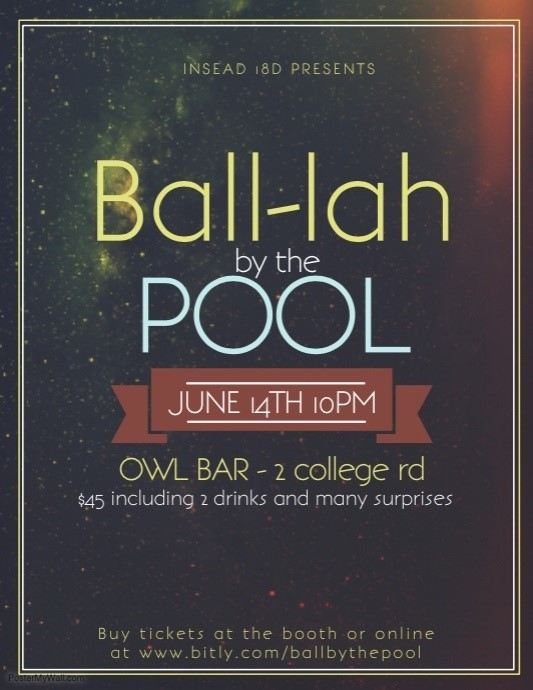 Ball-lah by the Pool