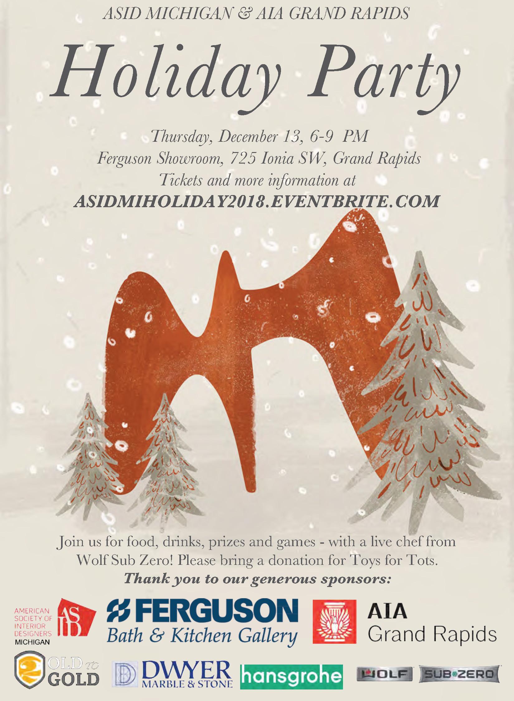 ASID AIAGR Holiday Party 2018 Invitation