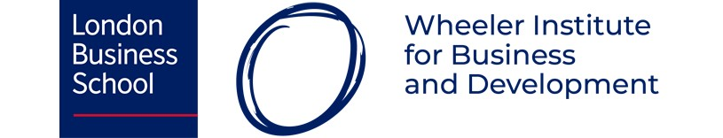 London Business School and Wheeler Institute for Business and Development Logo Lockup