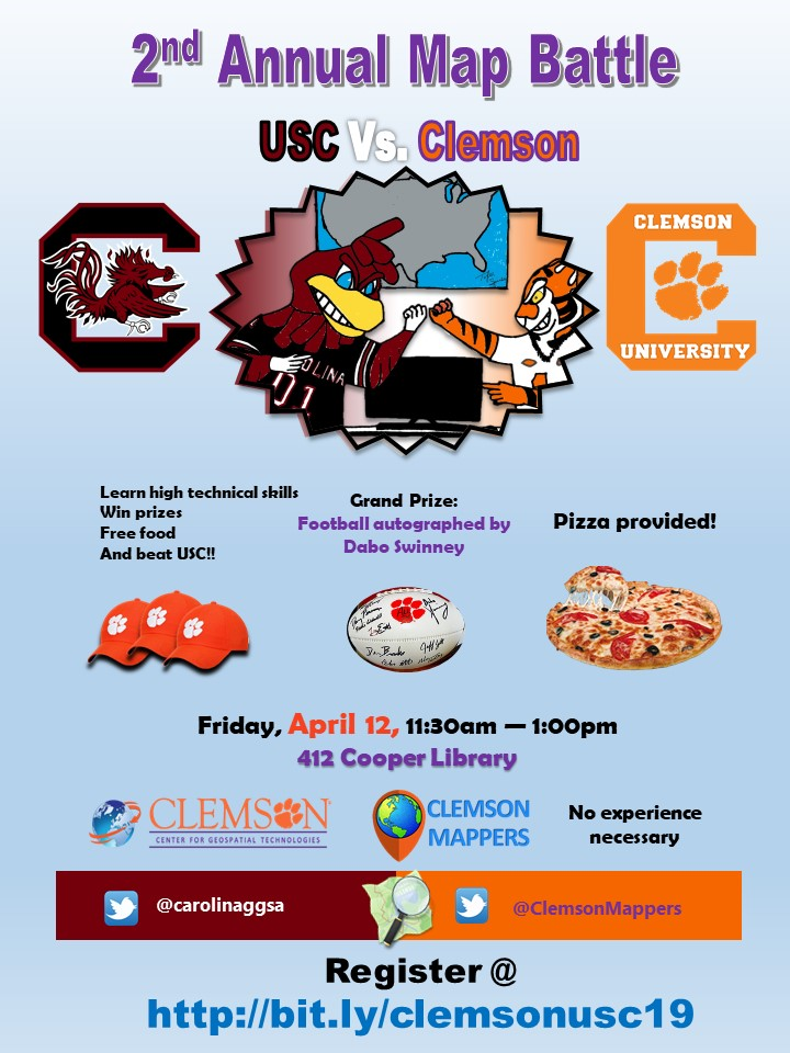 USC Vs. Clemson 2nd Annual Map Battle!! - Clemson University