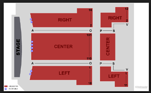 Seating Map Colony Theater