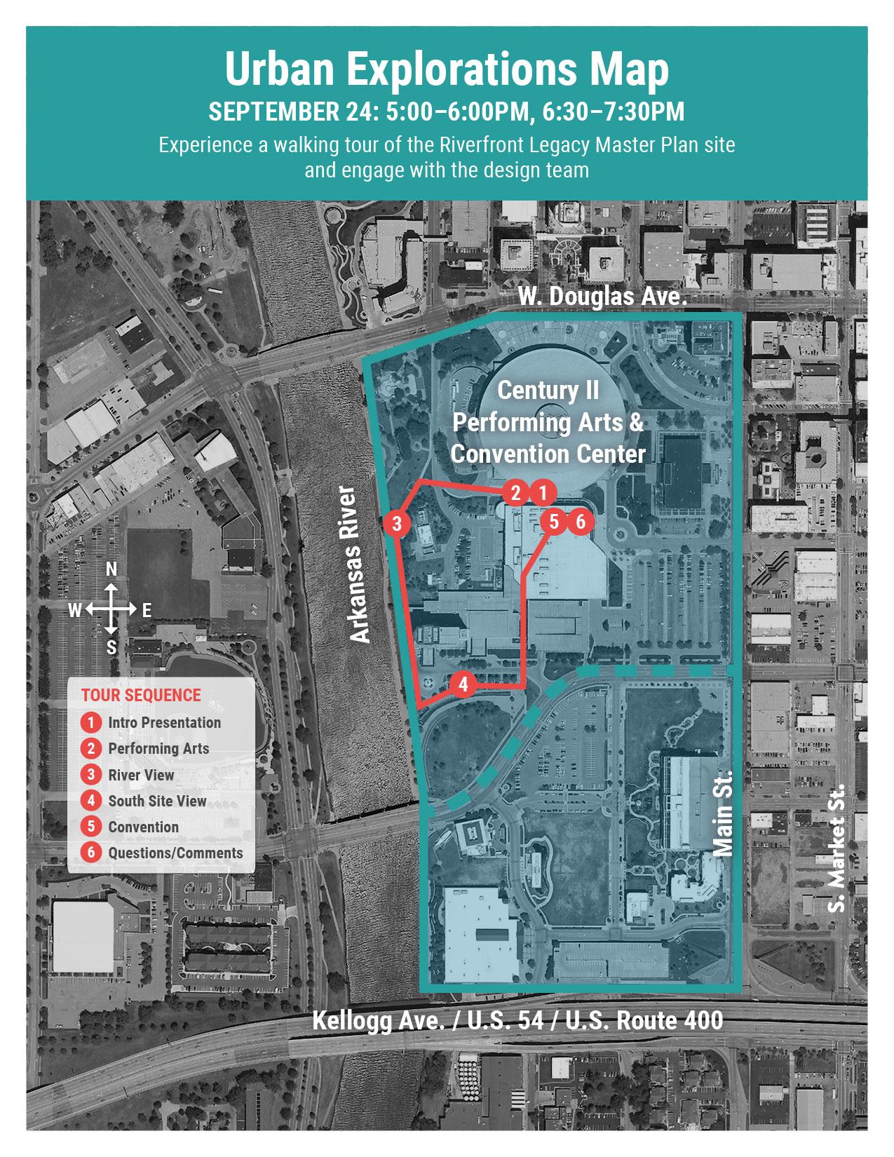 September 24 Urban Exploration Tour Map