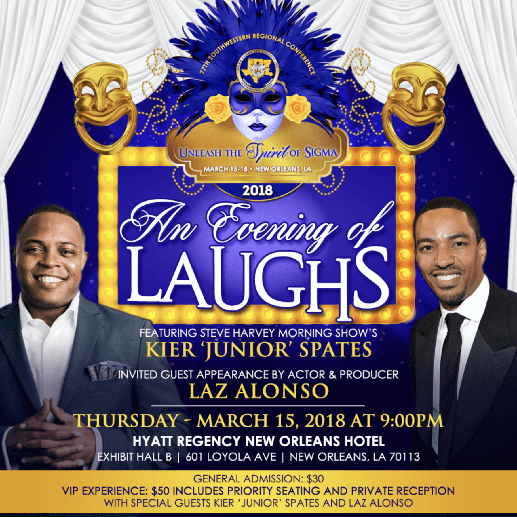 Sigma gamma rho presents an evening of laughs featuring kier comedy show biocorpaavc