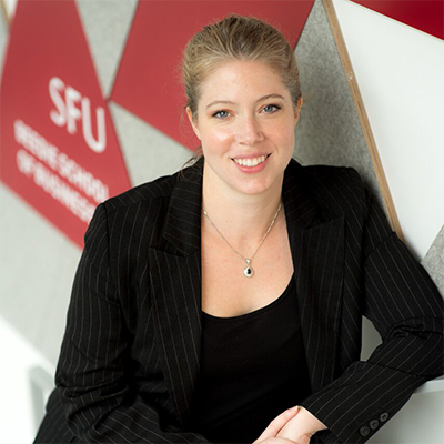 Sarah Lubik, SFU Director of the Charles Chang Institute for Entrepreneurship