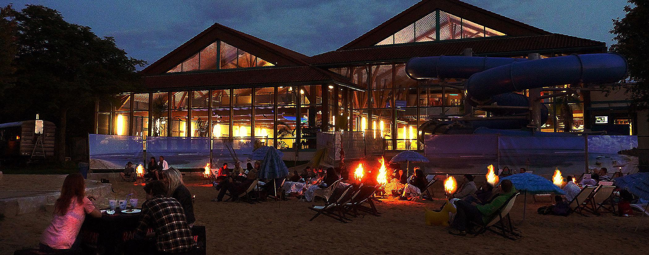 Unser Festivalgelände am Abend