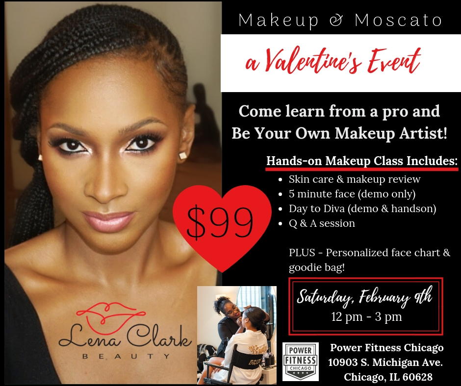 Makeup and Moscato a Valentine's Event at Power Fitness Chicago