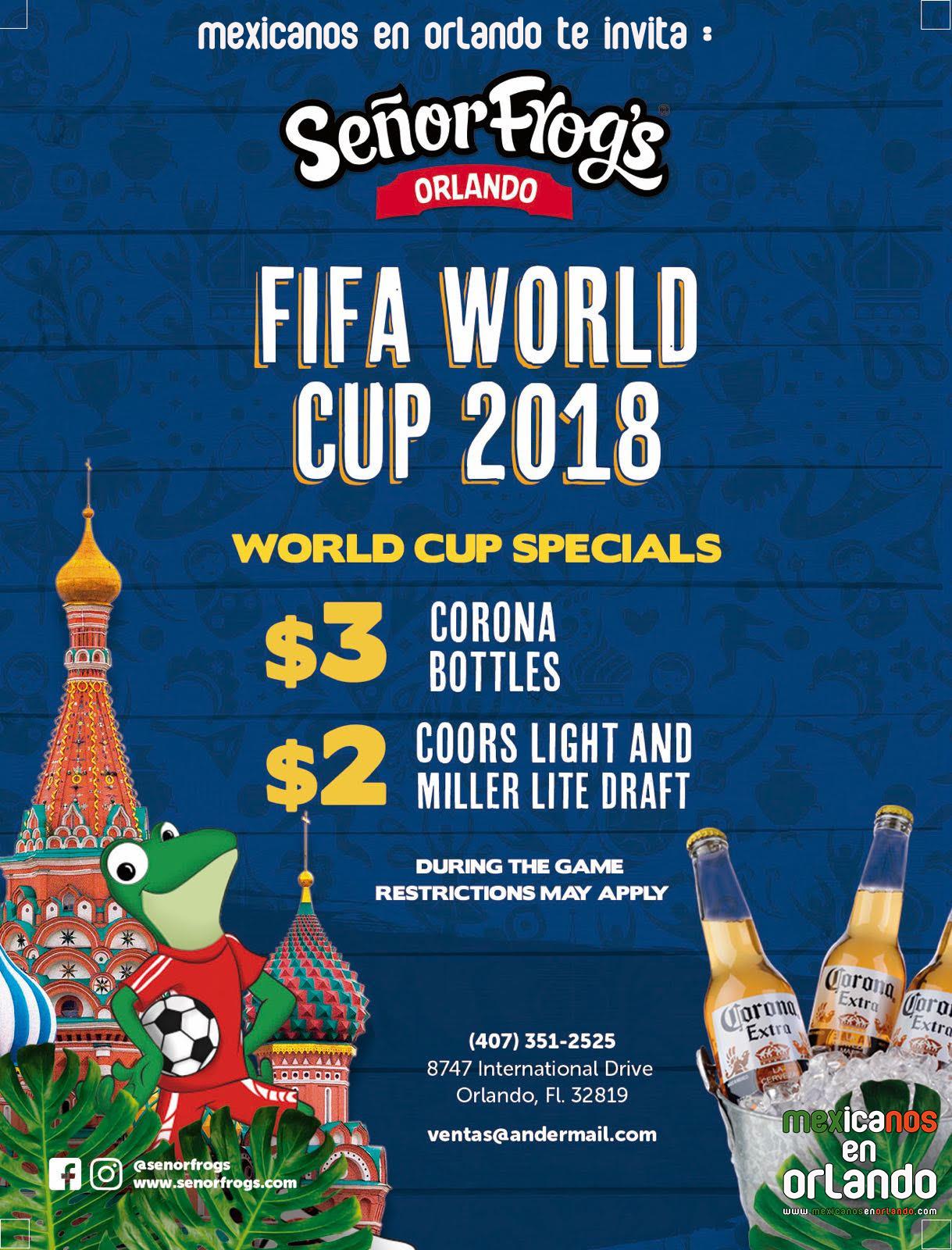 mexicanos en orlando senor frogs mexico world cup