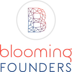 Blooming Founders Red/Blue logo