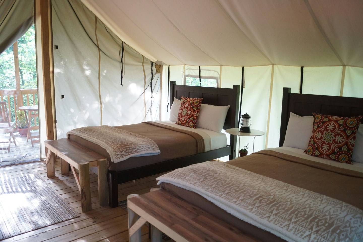 Shared tent- 2 full beds