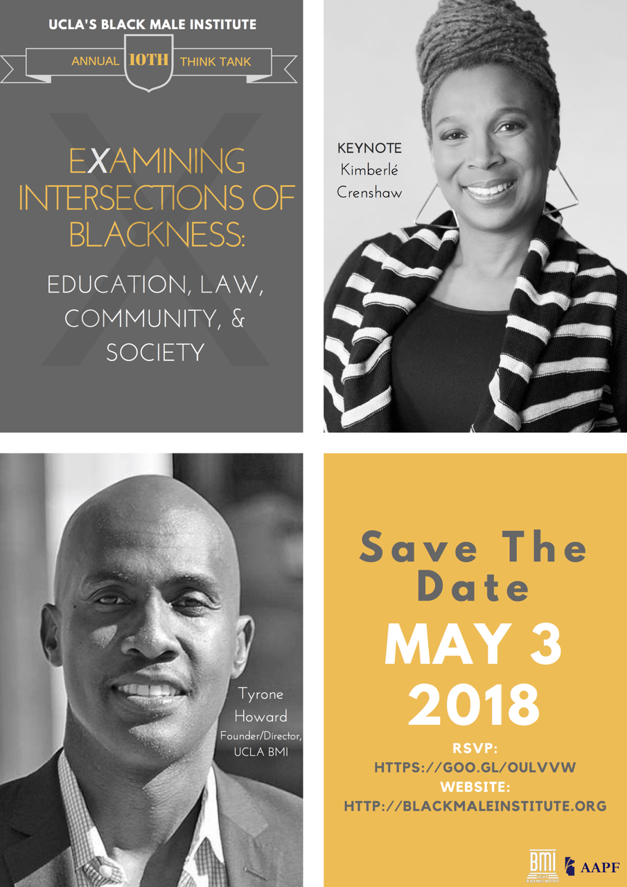 UCLA BMi 10th Annual Think Tank. May 3, 2018. Keynote Speaker Kimberlé Crenshaw
