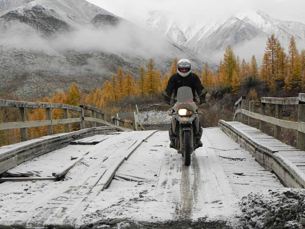 Siberia with snow