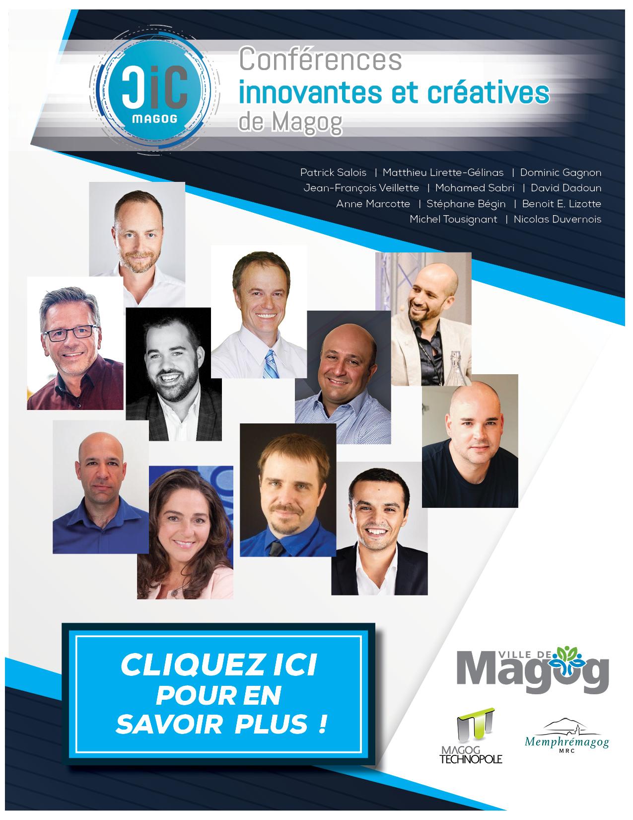 Conférences innovantes et créatives de Magog 2018-2019