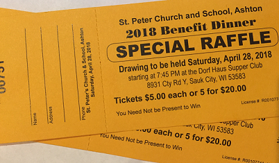 Picture of St. Peter Raffle Ticket