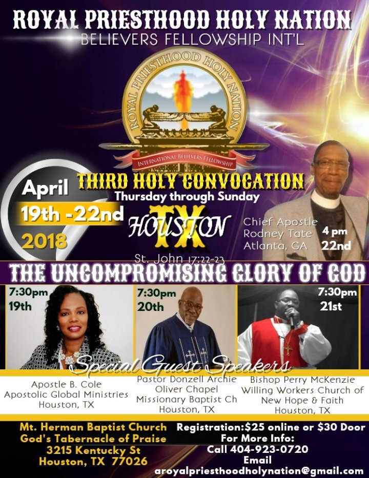 Holy Convocation Poster
