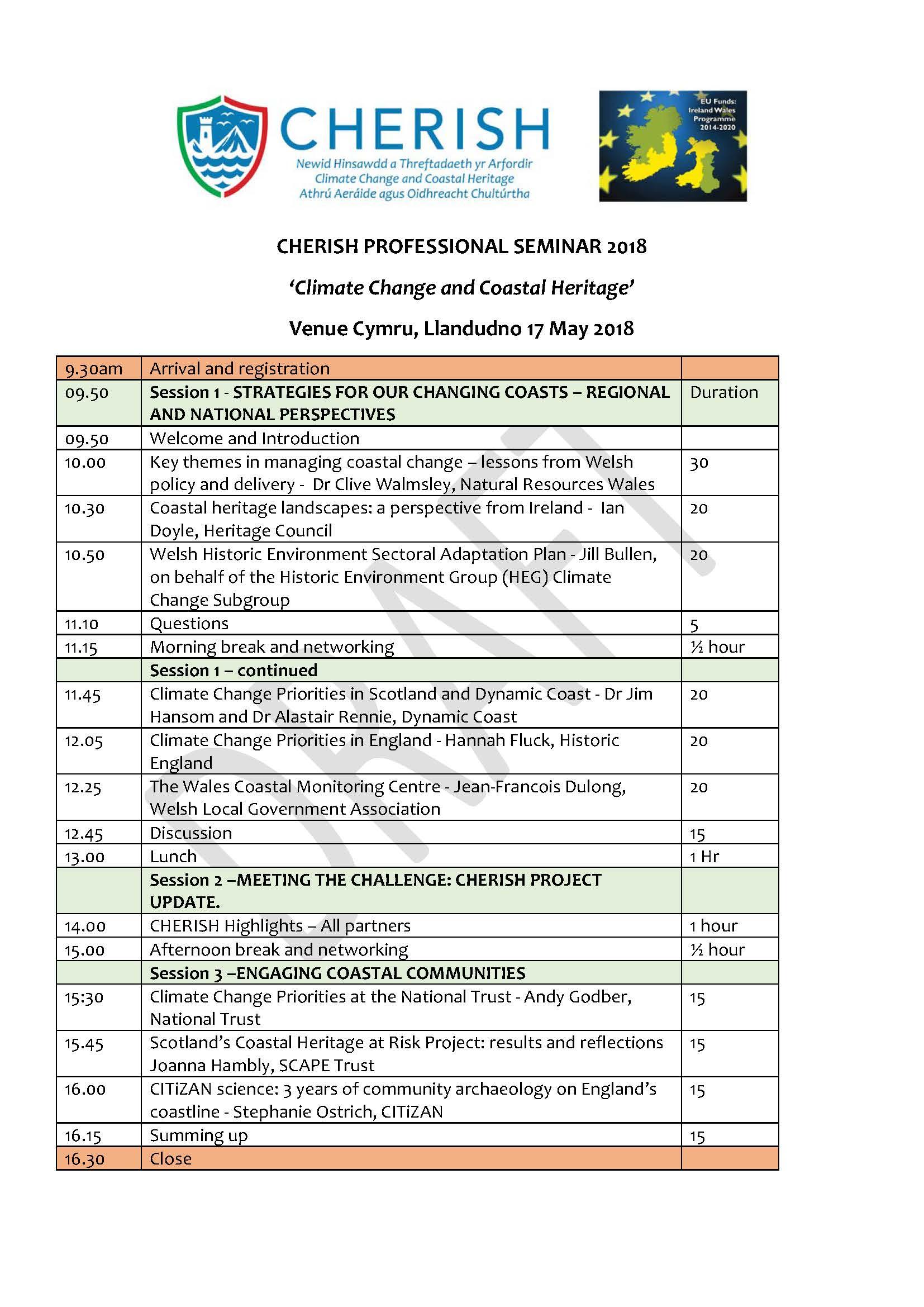 Professional Seminar Programme