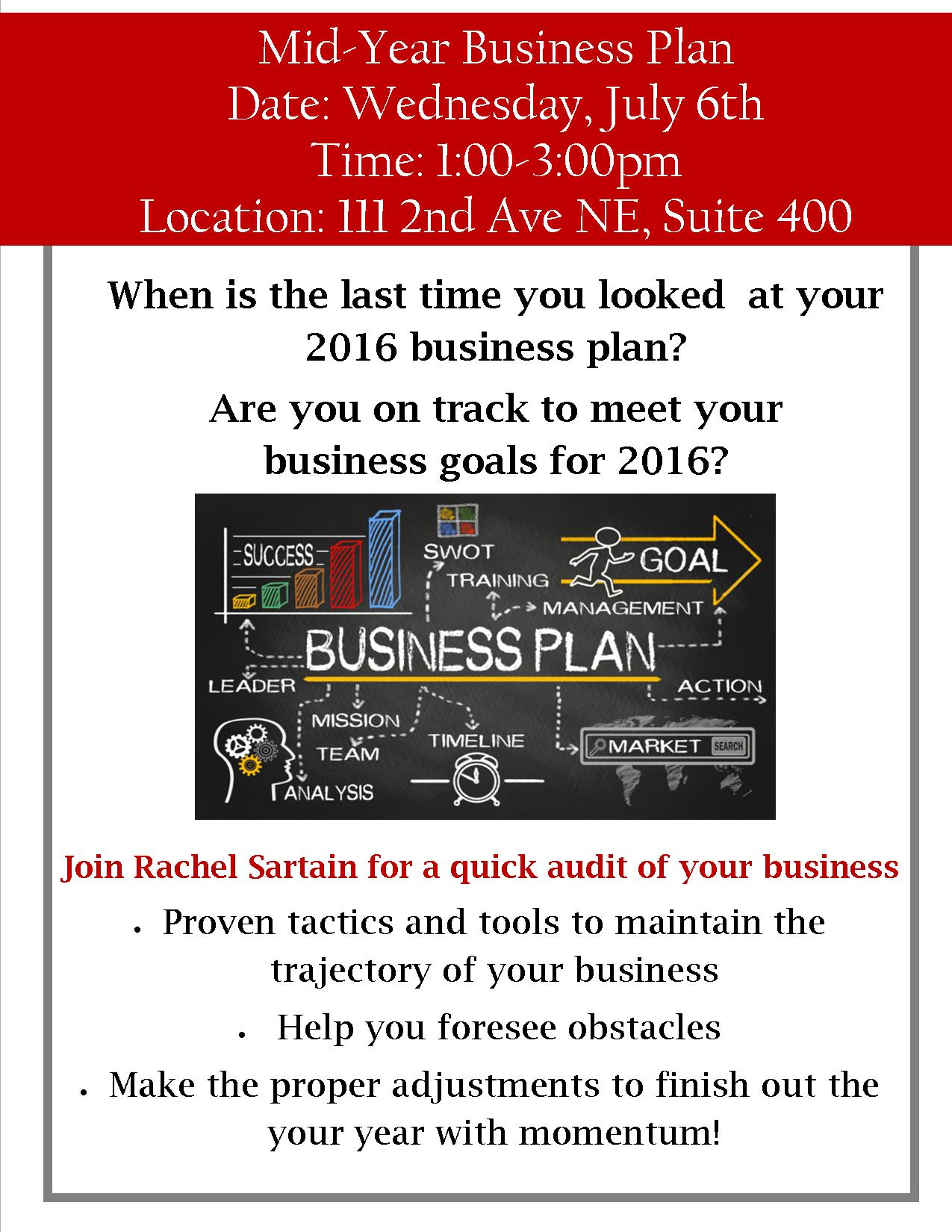 Your business plan is a tool that can