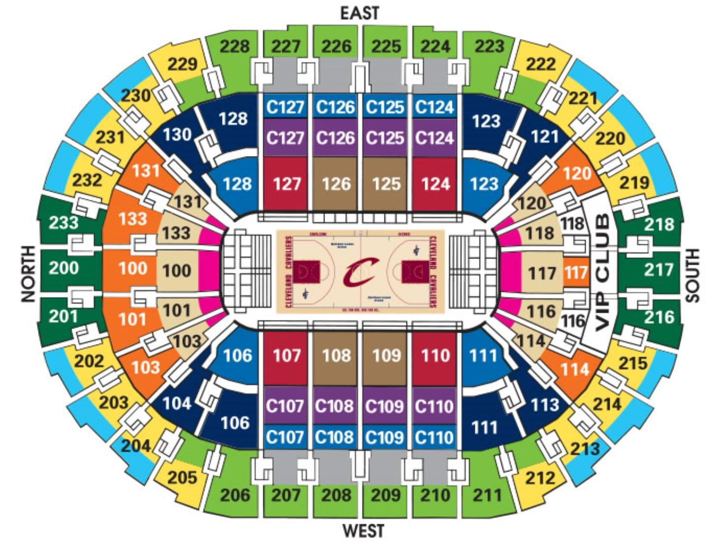 Quicken Loans Arena Seating Map