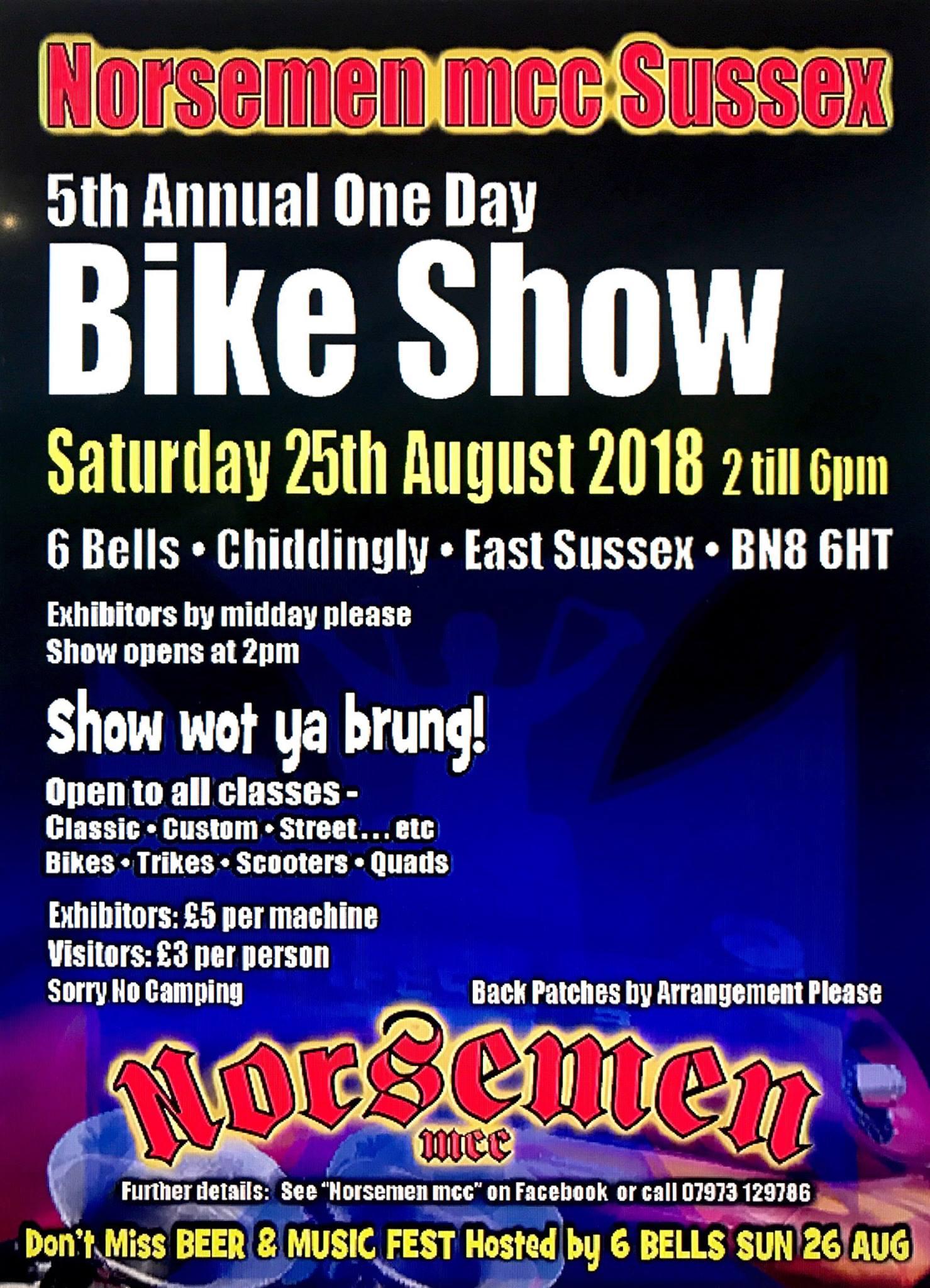 Norsemen MCC Bike Show