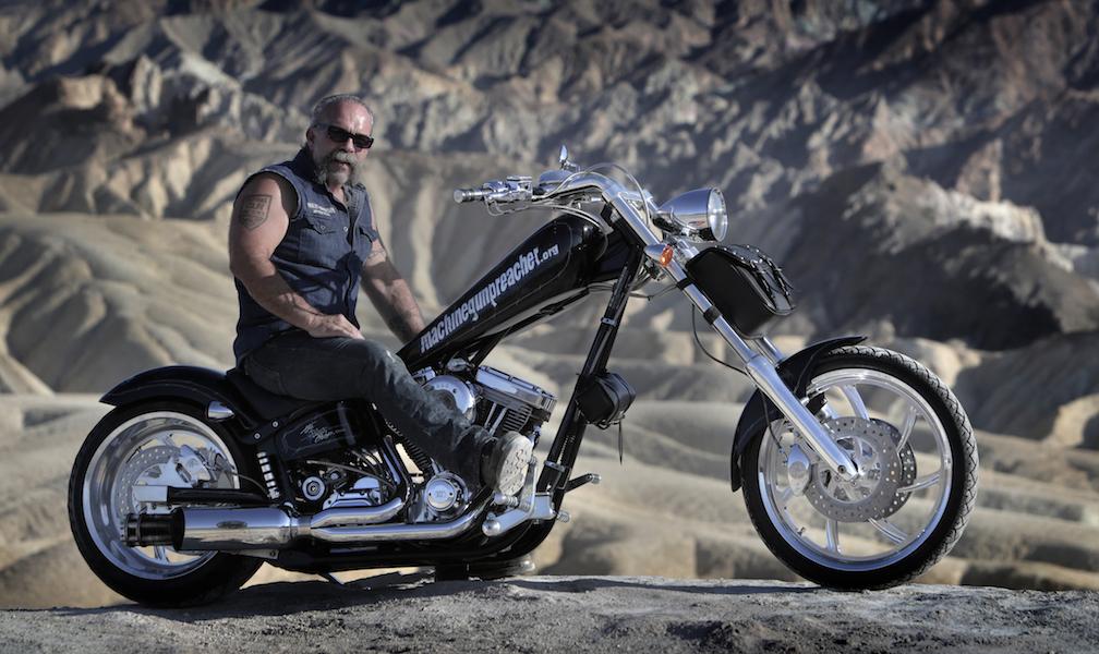SAM ON HIS MOTORBIKE