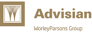 Advisian Logo (Gold/White)