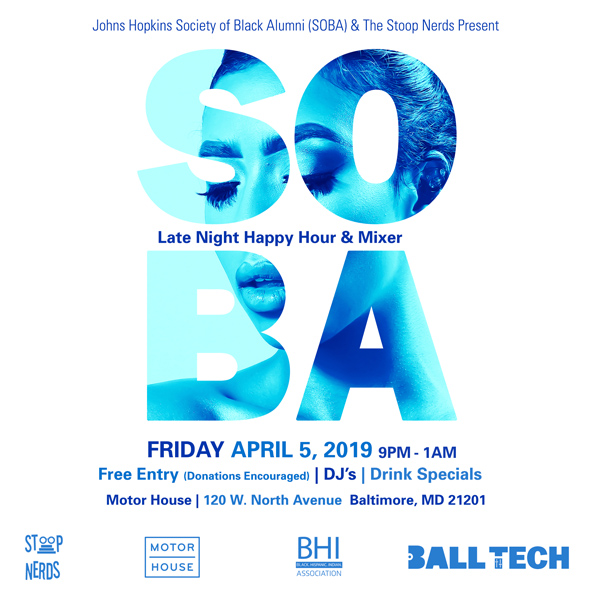 SOBA Late Night Happy Hour & Mixer - Baltimore Snap