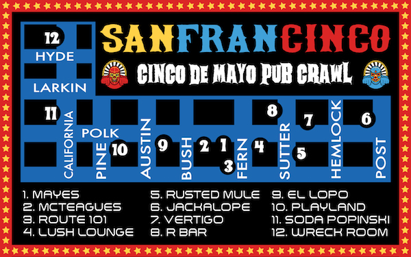 San Francisco Cinco De Mayo Bar Crawl