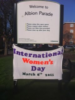 Albion parade banner