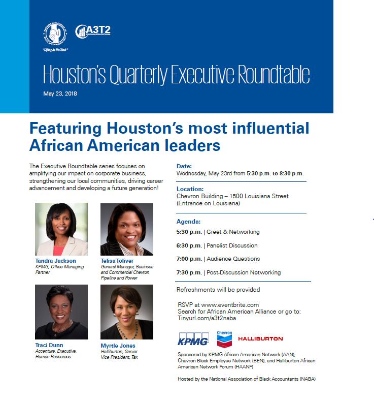 Houston Executive Roundtable flyer