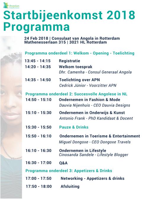 APN Startbijeenkomst 2018 - Programma