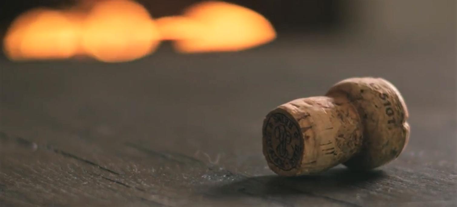Cork on table