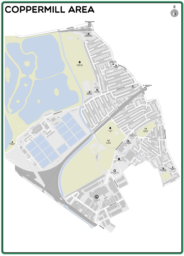 Map of the Coppermill Liveable Neighbourhood area