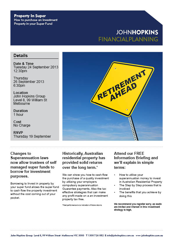 Property In Super Invitation - September 2013