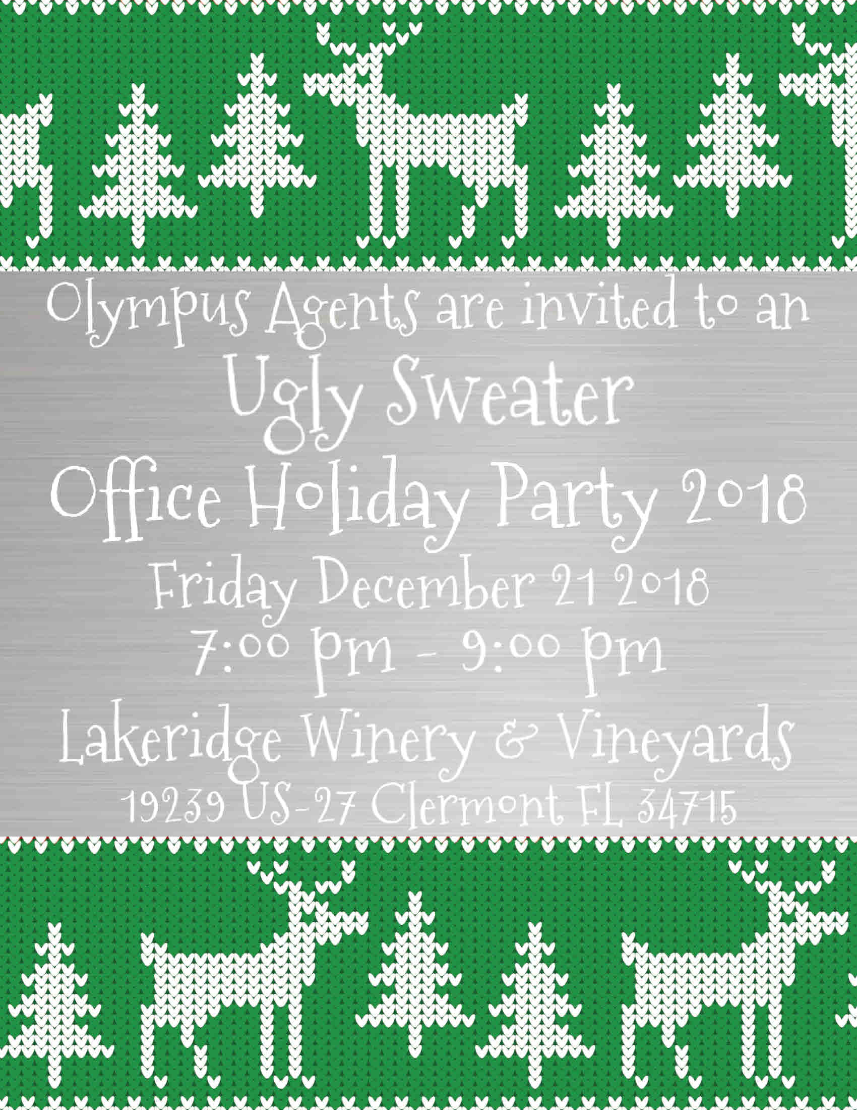 Ugly Sweater Office Holiday Party 2018 Tickets, Fri, Dec 21, 2018 at ...