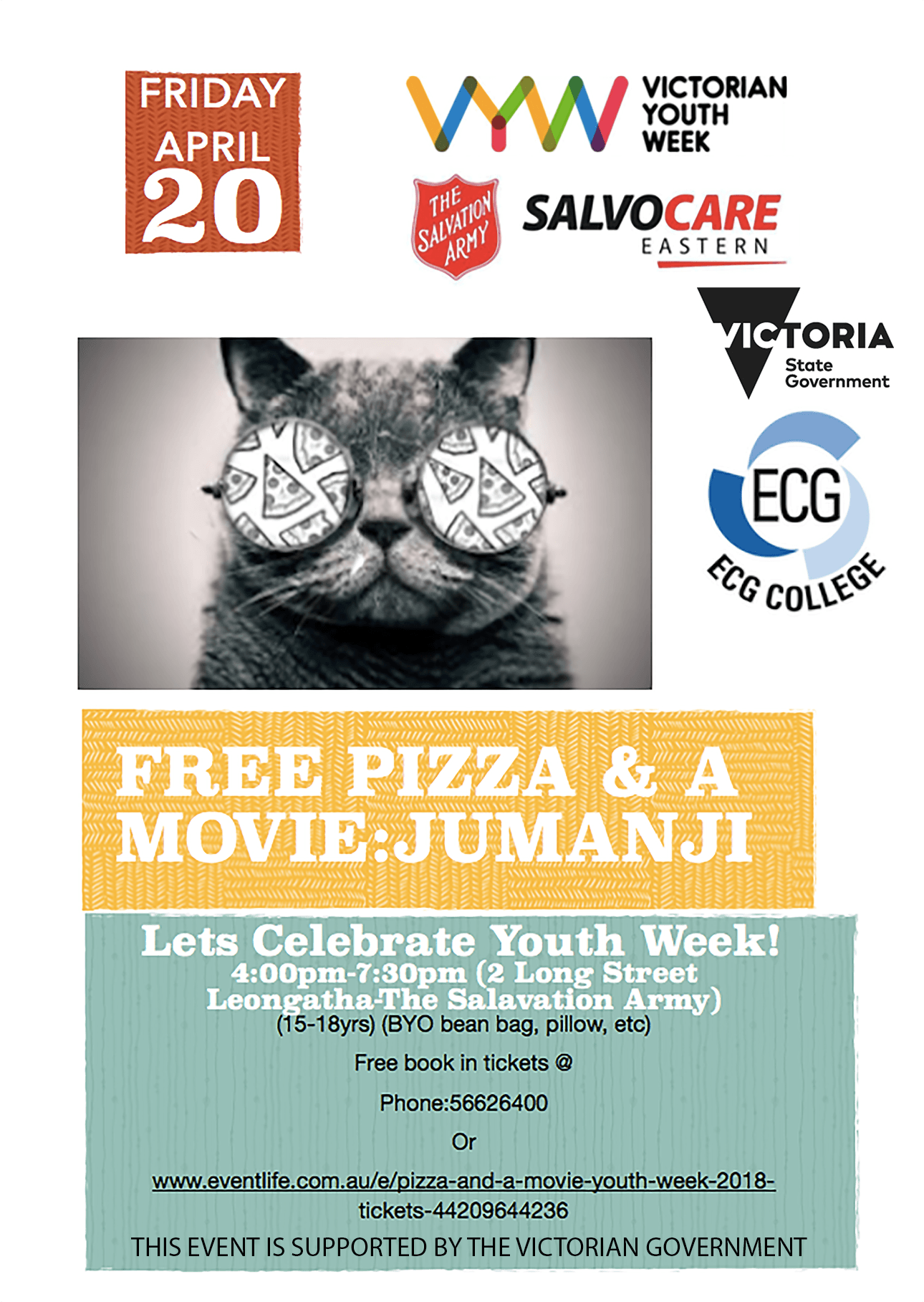Youth Week Poster 2018 20 April 2 Long Street Leongatha 4PM