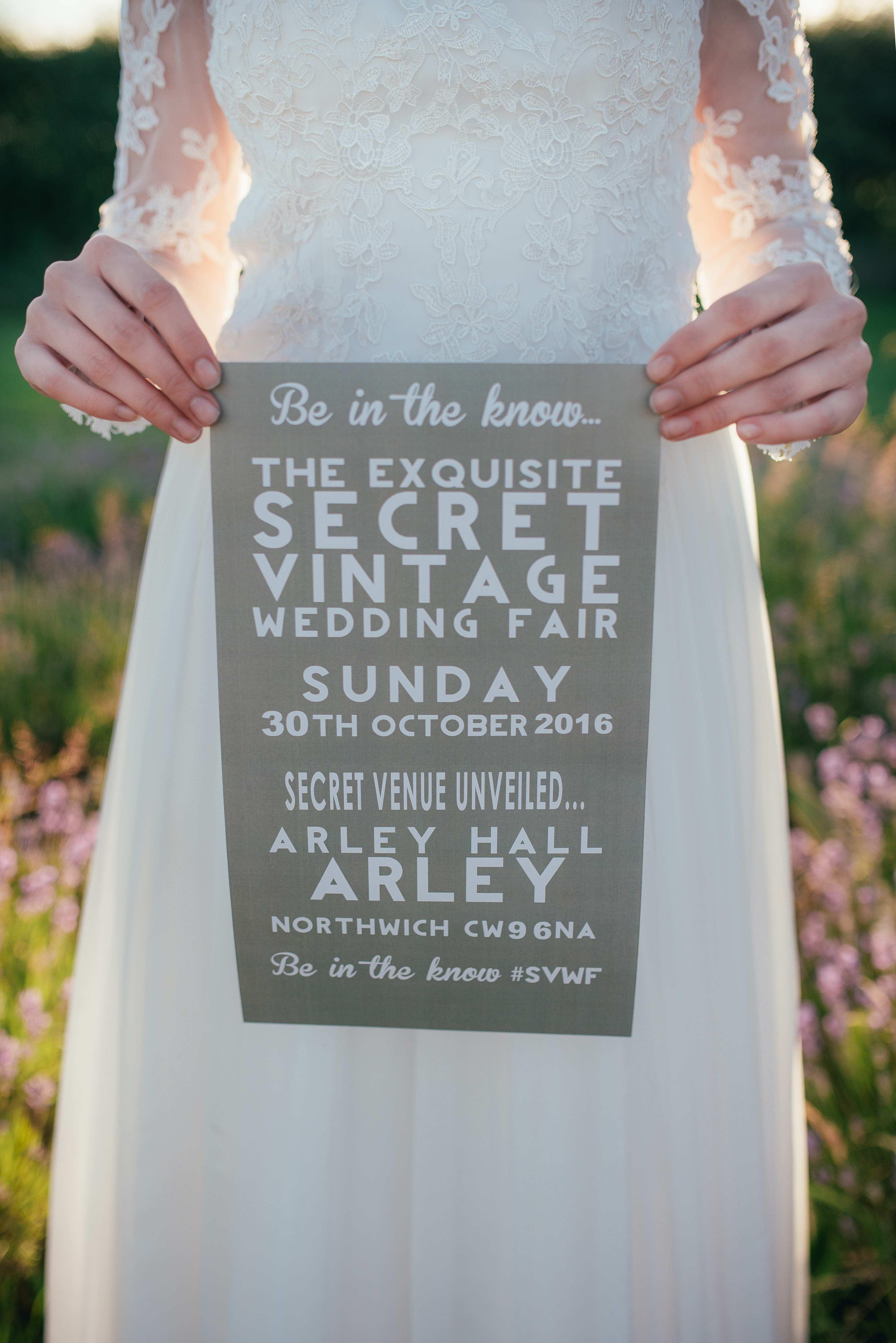 poster of the secret vintage wedding fair