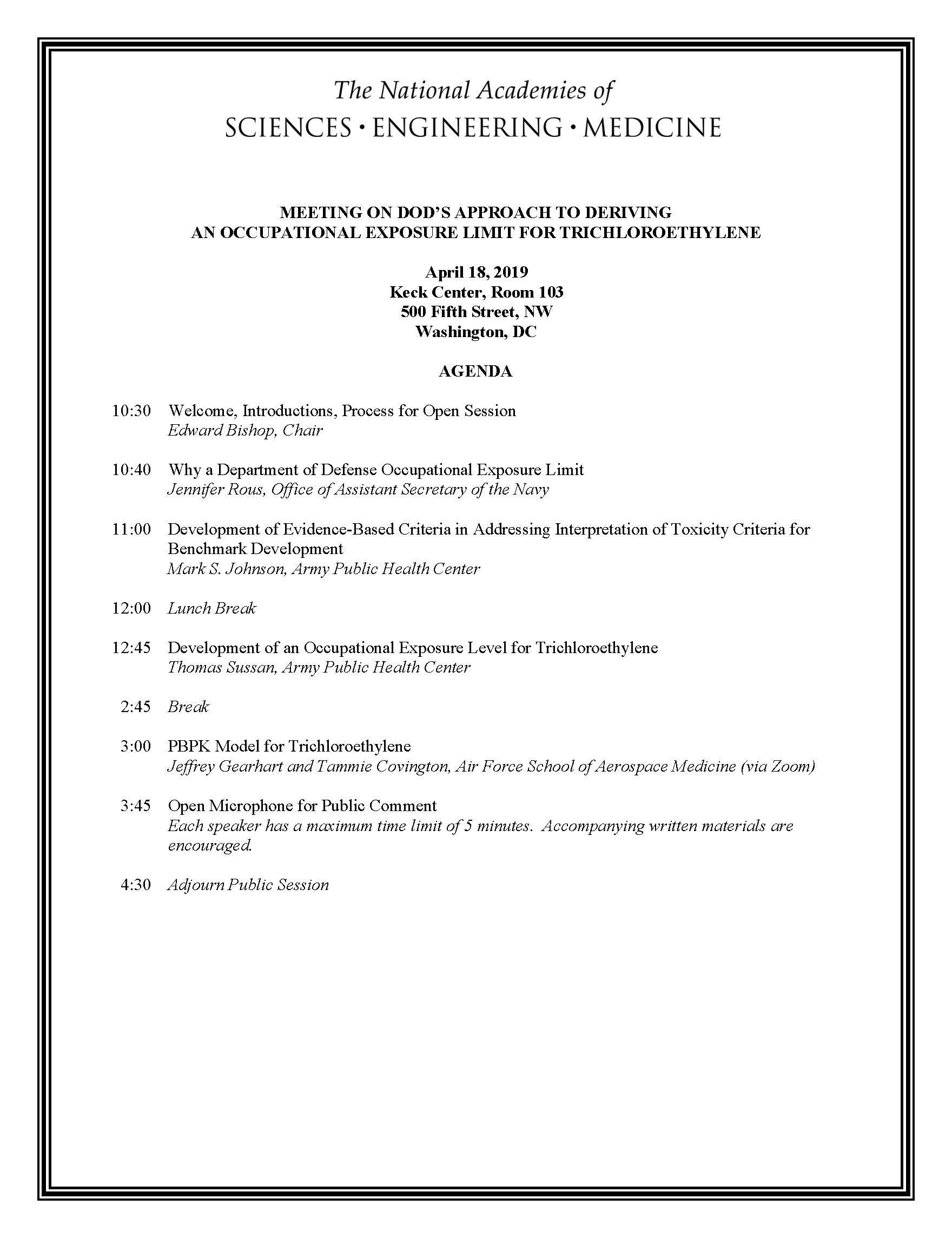 TCE OEL Public Agenda
