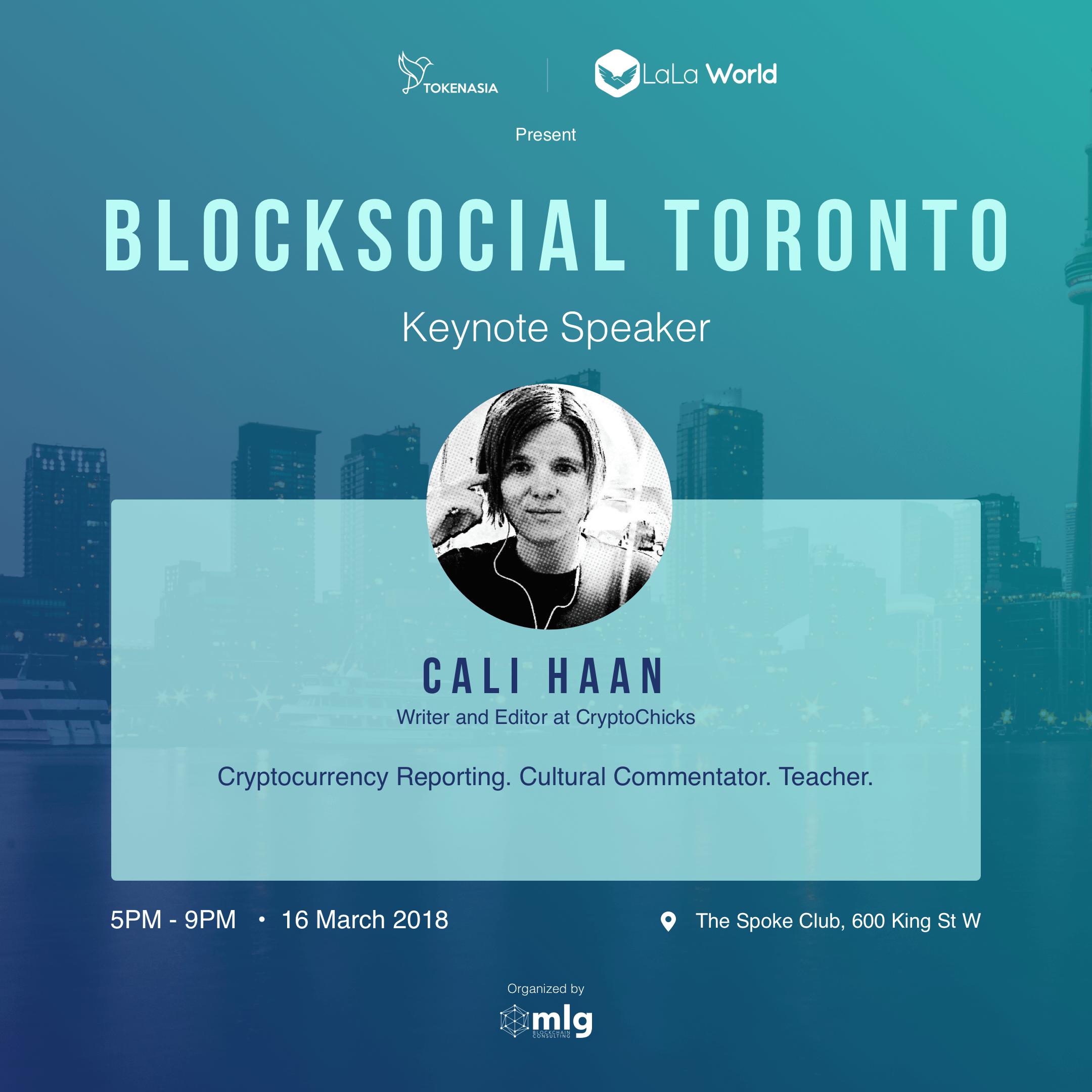 Blocksocial Speaker - Cali Haan