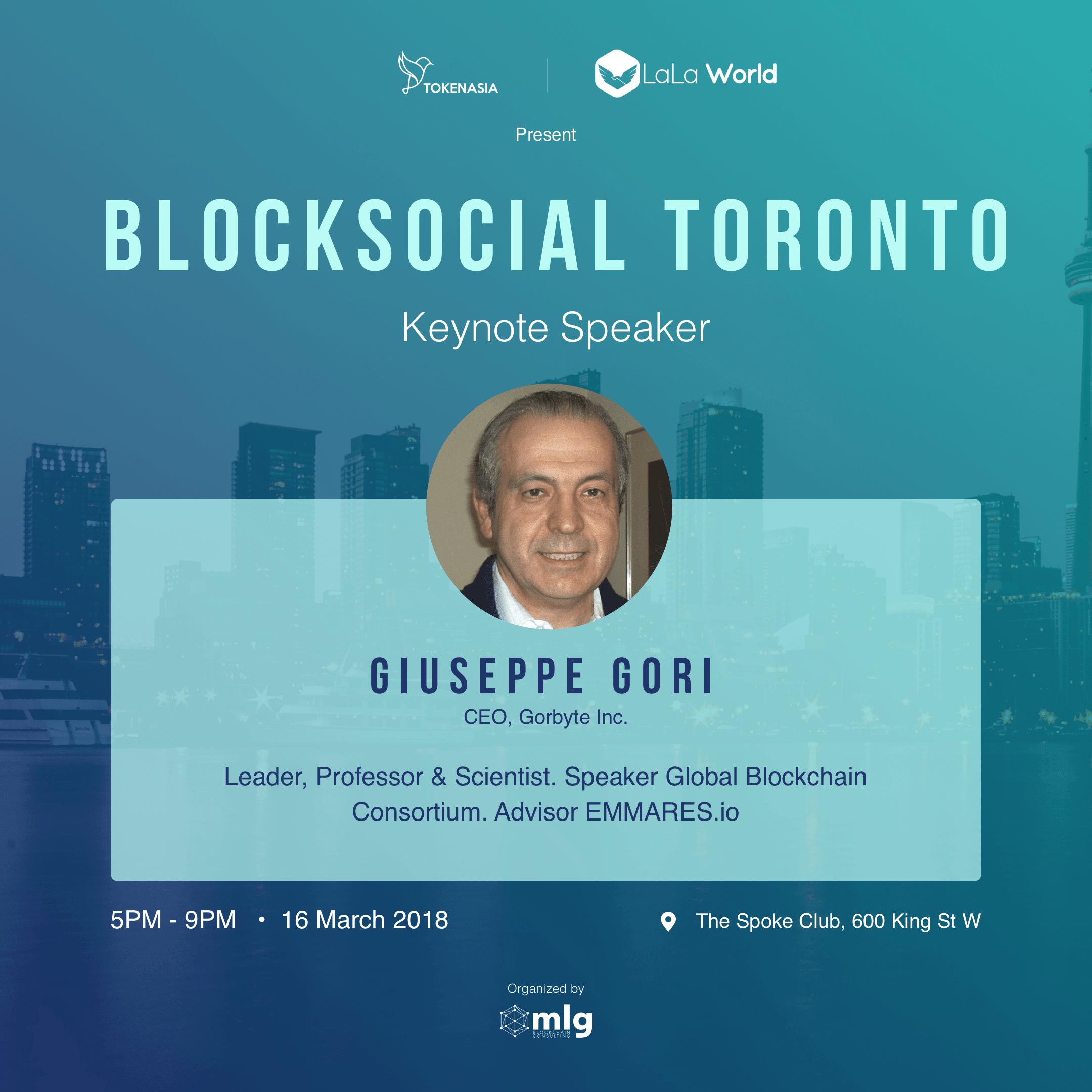 Blocksocial Speaker - Giuseppe Gori
