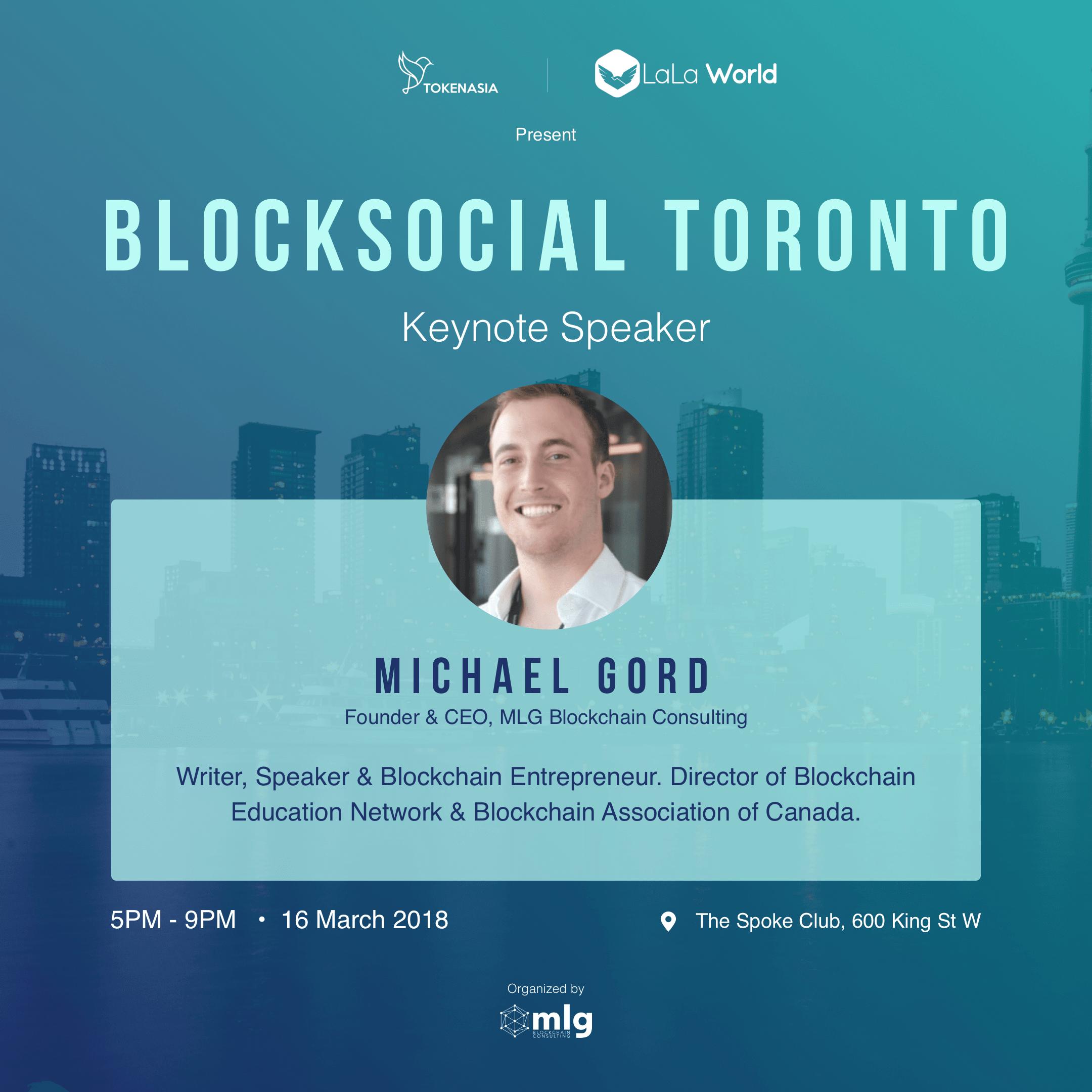 Blocksocial Speaker - Michael Gord