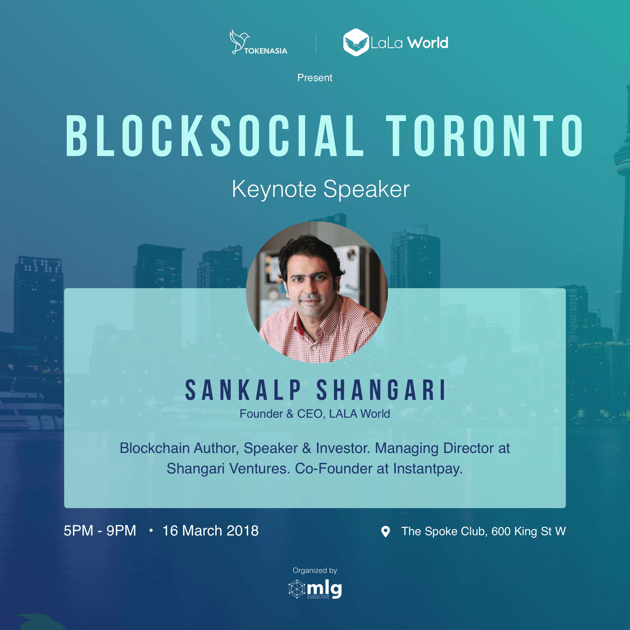 Blocksocial Speaker - Sankalp Shangari
